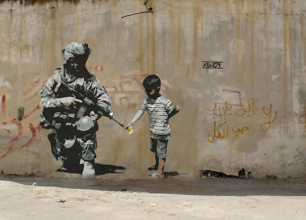 banksy street art designsekcja. Black Bedroom Furniture Sets. Home Design Ideas