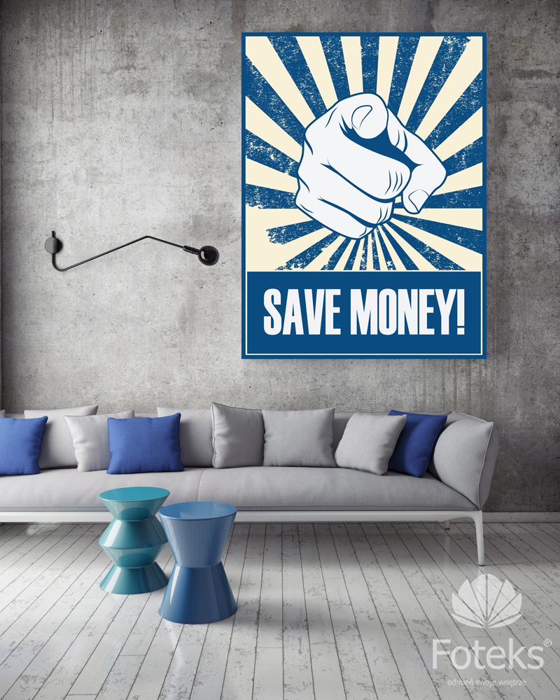 PLAKAT SAVE MONEY
